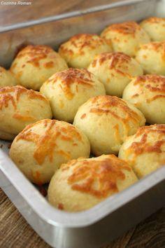 Pão de batata com queijo, daquele super macio - Cozinha Roman