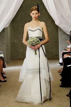 """Our 5 Favorite Looks from #CarolinaHerrera's New Wedding Dress Collection: """"Irma"""" Organza Column. http://news.instyle.com/photo-gallery/?postgallery=108875#2"""