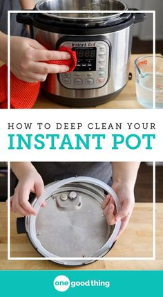 Part of being a good Instant Pot owner is keeping it clean! I'm sharing how to keep it clean after everyday cooking, as well as step-by-step instructions for how to deep clean your Instant Pot. #instantpot #cleaningtips #kitchencleaningtips Electric Pressure Cooker, Instant Pot Pressure Cooker, Pressure Cooker Recipes, Pressure Cooking, Slow Cooker, Pressure Pot, House Cleaning Tips, Deep Cleaning, Spring Cleaning