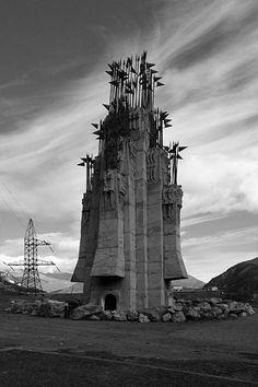 War memorial near Zhinvali dam, Georgia