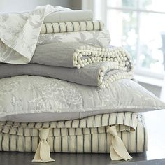 Love all of thise together  Jardin Toile Bedding - Gray