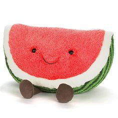 Amuseable Watermelon Huge by Jellycat - Size: - Price: with FREE National Cute Cushions, Cute Pillows, Food Plushies, Cute Dog Toys, Food Pillows, Aries, Watermelon Baby, Baby Girl Toys, Dog Furniture