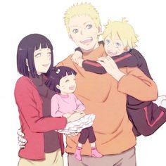 Hinata, Himawari, Naruto, and Boruto