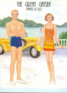 2/6 THE Great Gatsby Paper Dolls BY Marilyn Henry Uncut | eBay