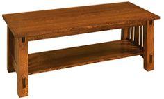 Simple slatted coffee table