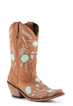 Women's Liberty Black Vegas Faggio and Turquoise Boots #LB-712925-FAGG