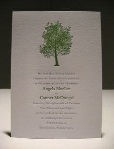 simple beautiful tree: love the simplistic chic design, and of course, the color green is perfect!