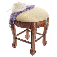 If you need a seat to complement your vintage vanity, look no further than the Design Toscano Lady Annette Boudoir Stool . The base of this stool. Accent Furniture, Furniture Decor, Living Room Furniture, Vanity Stool, Wood Vanity, Wall Curio Cabinet, Vintage Vanity, Classic Furniture, Online Furniture