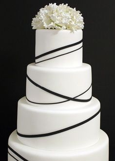 Black and white wedding cake black and white pinterest white beautiful white and black wedding cakes google search junglespirit Choice Image
