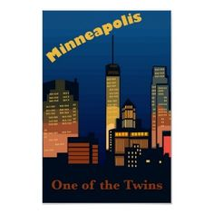 Minneapolis Travel Poster by RoamersPosters Minneapolis St Paul, Minnesota Home, Wedding Programs, Travel Posters, Memories, Spaces, Memoirs, Souvenirs, Remember This