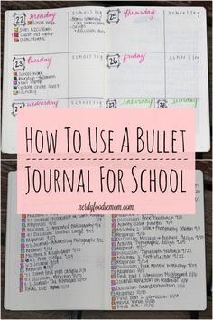 How To Use A Bullet Journal For School - bullet journaling can make you so much more organized for school and college!