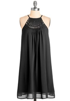 Trapeze-y on the Eyes Dress in Black