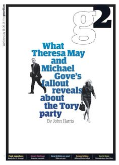 Guardian G2 cover: Gove/May fall out