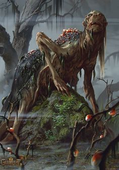 ArtStation - Gernichora - Gwent Card and Concept, Anna Podedworna - Alien Photos Monster Art, Monster Design, Dark Fantasy Art, Fantasy Artwork, Witcher Art, The Witcher, Arte Horror, Horror Art, Weird Creatures