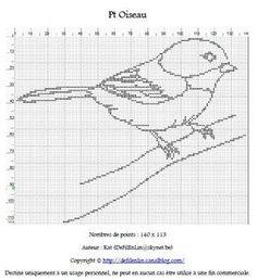 Petit Oiseau free cross stitch pattern