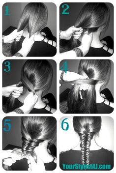 Fishtail braid tutorial, I can't wait for my hair to be long enough!