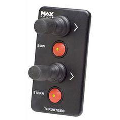 Panel de Control Doble Joystick Max Power, medidas 120 x 65 mm. Todos los paneles están especialmente diseñados para su uso con la gama completa de hélices de maniobra Max Power. Los paneles se instalan fácilmente realizando un simple orificio con una sie