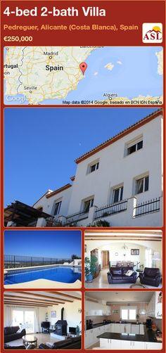 4-bed 2-bath Villa in Pedreguer, Alicante (Costa Blanca), Spain ►€250,000 #PropertyForSaleInSpain
