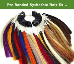 Pre Bonded Sythethic Hair Extensions Color Rings Chart Swatches. 32 Color: #1. #1b, #2, #3, #4, #6, #8, #10, #12, #14, #16, #18, #22, #24, #27, #33, #51, #350, #613, Pink, New purple ,Purple, Blue, Red, Burgundy, Sky, Dark Red, Lilac, Dark Green, Acid Green, Orange, Fuxia.