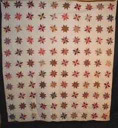 Antique 1870s Lemoyne Star quilt
