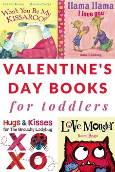 This great list of Valentine's Day Books for Toddlers includes fun reads to celebrate love and kisses this winter holiday. #ValentinesDay #booksfortoddlers #toddlers #booklists #parenting #GrowingBookbyBook