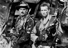 Predator - Promo shot of Arnold Schwarzenegger & Jesse Ventura