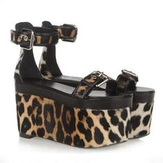 88.35$  Buy here - http://alim99.shopchina.info/go.php?t=32661319993 - Summer leopard platform shoes round toe thick sole wedges buckle strap women sandals sexy high heels customization zapatos mujer 88.35$ #aliexpress