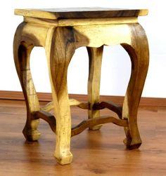 Asiatischer Tisch, natur (extra hoch) Garden Tool Set, Black Side Table, Bali, Folding Stool, Home And Garden, Beige, Chair, Wood, Handmade