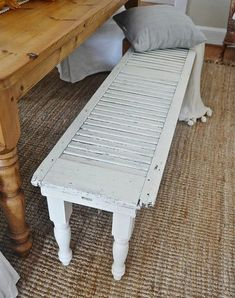 Ways to refurbish old furniture into an outdoor bench