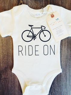 Ride On Bicycle Baby Onesie® – Urban Baby Co.