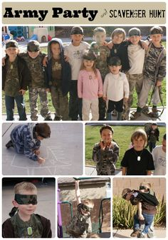 Army Themed Party and Scavenger Hunt