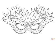 venetian mardi gras mask super coloring