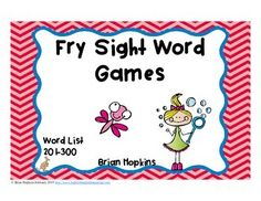 This is a set of 4 Fry Sight Word Board games using words from the 300 Word List.  These are words 201-300.