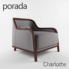 armchair porada charlotte charlotte lounge chair 01