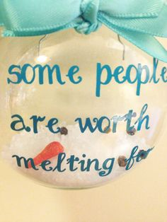 Frozens Olafs saying some people are worth by CraftyCuts4You