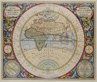 HEMISPHAERIUM ORBIS ANTIQUI, Andreas Cellarius, 1708