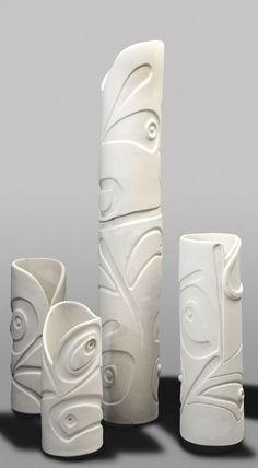 W Fine Porcelain China Diane Japan Hand Built Pottery, Slab Pottery, Pottery Vase, Ceramic Pottery, Ceramic Clay, Ceramic Vase, Keramik Design, Sculptures Céramiques, Clay Vase