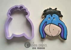 Winnie the Pooh character made with cookie cutter from Truly Mad Plastics