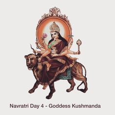 Kushmanda is the form of Goddess Durga and she is worshipped on the day of Navratri. Ku means little, Ushma means energy or warmth… Hindu Rituals, Hindu Mantras, Navratri Images, Festivals Of India, Happy Navratri, Cute Love Images, Vedic Astrology, Durga Goddess, Radhe Krishna