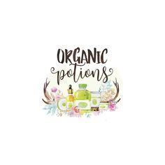 Logo-ORGANIC POTIONS-Boutique Logo, Photography logo, Premade Logo, Rustic Logo, Boho, Etsy Shop Set, Business Card, Facebook Set, Branding by CharlisWeb on Etsy