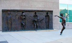 """The moment you can visualize being free from the things that hold you back, you have indeed begun to set yourself free.""---Unknown     -- Sculpture by: Zenos Frudakis ""Freedom"""