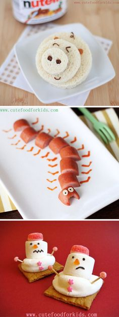 Need some inspiration for some neat snack ideas, now that school is around the corner? We think these Cute Food For Kids ideas are a great place to start! #KidFood