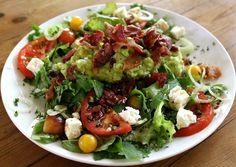 Guacamole Salad with Bacon - A new SavannaBel post. www.savannabel.com
