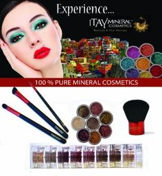 """ITAY Mineral Four Brush Set + 8 Stack Mineral Eye Shimmer """"Nature Beauty"""" BS8S01 by ITAY Mineral Cosmetics. $69.99. Four Brush Set. 8-Stack Eye Shimmer """"Nature Beauty"""". All-Natural Ingredients. Soft Synthetic Fibers. Includes: Kabuki Brush, Oval Brush, Angled Brush, & Eyeliner Brush. A-VIVA IS AN AUTHORIZED SELLER ITAY Mineral Cosmetics Four Brush Set with 8 Stack Mineral Eye Shimmer """"Nature Beauty"""" Kabuki Foundation Brush For a great brush, go with the Kabuki Loos..."""