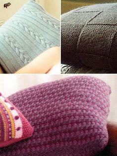 Classic 'Harmony', 'Rest' & 'Rosetta' Cushions from  by Ella Rae at KnittingFever.com