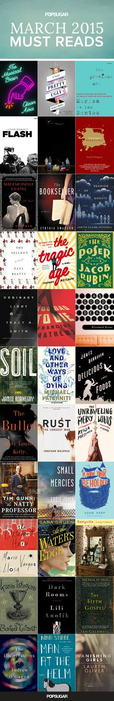 Looking for some new titles to add to your reading list? We've rounded up the best books hitting shelves in March 2015 — including fiction, memoirs, mysteries, and more!