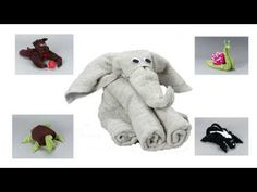 ▶ Towel Origami Animal / Creative Towel Folding Instructions Available On DVD And Online - YouTube