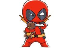 How to draw Chibi Deadpool