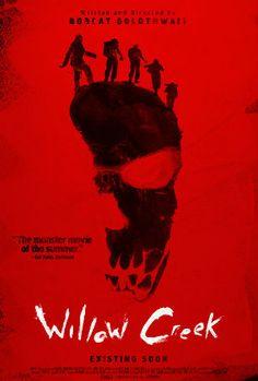 """Another good poster for """"Willow Creek"""" (2013, Leigh Janiak). Post: http://malpertuis.org/2014/09/25/aspettando-bigfootot/"""