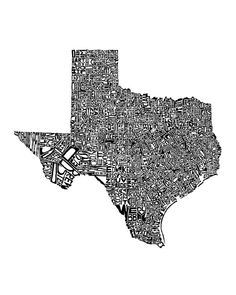 Bought this in an 8x10 and LOVE IT! It is the TX counties written in the shape of the state. I just wish I had gotten the 11x14 instead.
